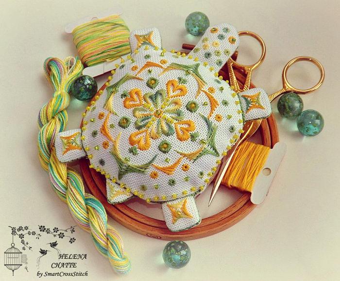 Tortoise Pincushion Embroidery Pattern