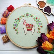 Alpaca Pako Cross Stitch pattern