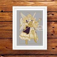 Angel Seraphim cross stitch pattern