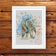 Animal Cross stitch pattern Elephant}