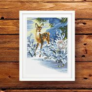Animalistic cross stitch pattern Small Deer}