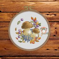 Autumn Cross stitch pattern Ceps}