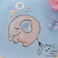 Baby Cross Stitch pattern Little Elephant