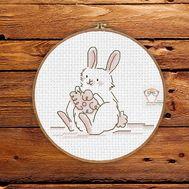 Baby Cross stitch pattern Marshmallow Bunny}