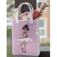 Ballerina purse plastic canvas pattern}