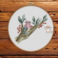 Bird Cross stitch pattern Spring Song}