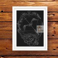 Chinese Cross stitch pattern zodiac Sagittarius}