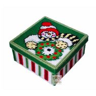 Christmas Snowman 1 plastic canvas tissue box pattern}