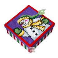 Christmas Snowman 2 plastic canvas tissue box pattern}