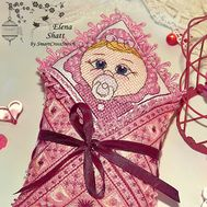 Cross Stitch pattern Baby Toy Little Girl