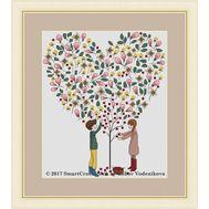 Fruits of love Cross stitch pattern