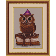 Little Owl & Cake Cross stitch pattern
