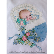 Cross stitch Miracle of Birth - Baby Boy