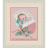 Miracle of Birth Cross stitch pattern  Baby Girl Sampler