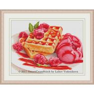 Raspberry Ice-cream cross stitch pattern