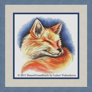 Red dream Fox Cross stitch pattern