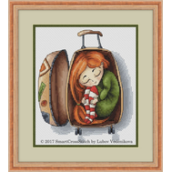 Travelling Mood Cute cross stitch pattern