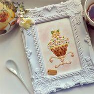 Vanilla Pistachio Dessert cross stitch pattern