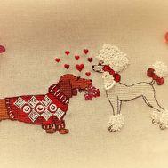 Dogs Cross Stitch pattern Love