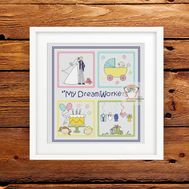 Dreamworker cross stitch pattern