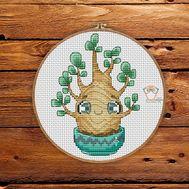 Easy Cross stitch pattern Mini Cactus 2}