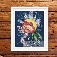 {en:Fairy cross stitch pattern Magic Poppy;}