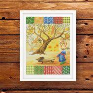 Fantasy Cross stitch pattern Autumn Blanket