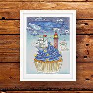 Fantasy cross stitch pattern pdf Sea Cake}