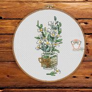Floral Cross stitch pattern Spring Bouquet}