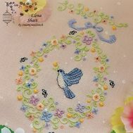 Floral Embroidery pattern Easter chores