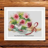 Flowers Cross Stitch pattern Spring Fragrance