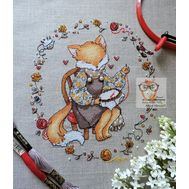 Free Fox the Embroiderer Cross Stitch Pattern