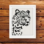 free leopard black and white pattern