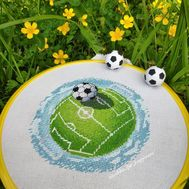 Free Soccer cross stitch pattern picture