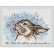 Big-eared Funny Bunny  cross stitch pattern