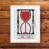 Funny cross stitch pattern Time for Wine pattern