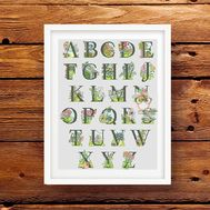 Garden Alphabet cross stitch pattern fonts pattern