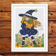 Halloween Cross stitch pattern Pumpkin madness}