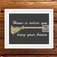 Harry Potter Broom cross stitch pattern embroidery design