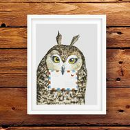 Harry Potter Owl cross stitch pattern pdf