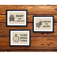 Home Decor Funny Quotes cross stitch pattern