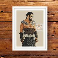 Khal Drogo cross stitch pattern Game of Thrones