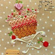 Kitchen Embroidery pattern Cherry Temptation