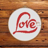 ''Love'' cross stitch pattern