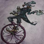 Mad Hatter cross stitch pattern Alice in Wonderland pattern}