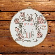 Marshmallow Cat Cross stitch pattern}