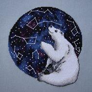Modern cross stitch pattern White Bear and Ursus}