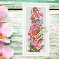 Orchid cross stitch pattern flowers pattern