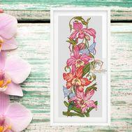 Orchid cross stitch pattern flowers pattern