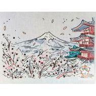 Orient cross stitch pattern Chinese Landscape